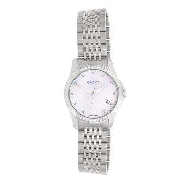 Gucci Mother of Pearl & Diamond G-Timeless Ladies Watch