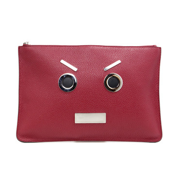 Fendi Applique Face Clutch