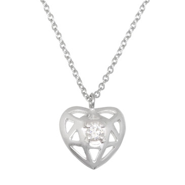Tiffany & Co. 18K White Gold & Diamond Paloma's Puzzle Pendant