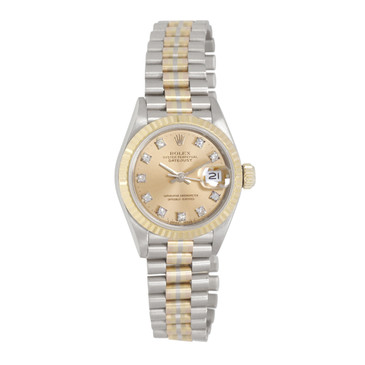 Rolex 18K & Diamond Ladies President Tridor 69179B
