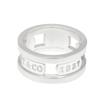 Tiffany & Co. Sterling Silver 1837 Wide Band Ring
