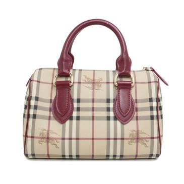 Burberry Haymarket Check Boston Bag