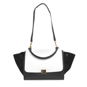 Celine Smooth Calfskin & Suede Medium Trapeze Bag