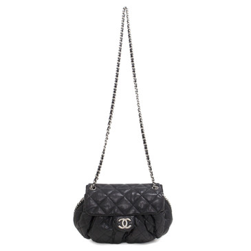 Chanel Black Quilted Medium Chain Around Messenger Bag