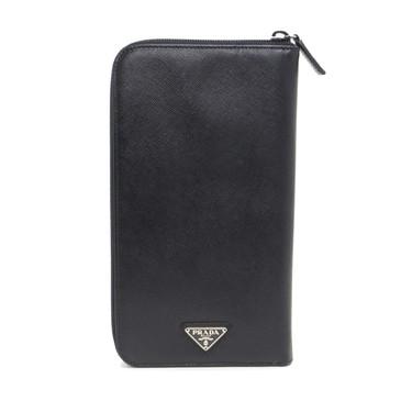 Prada Black Saffiano Organizer Wallet