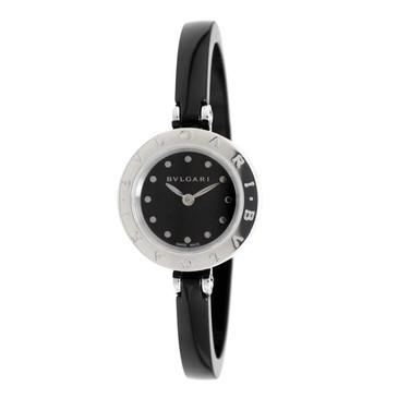 Bvlgari B.zero1 Black Ceramic Bangle Bracelet Ladies Watch