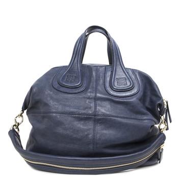 Givenchy Blue Lambskin Medium Nightingale Bag