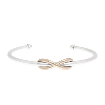 Tiffany & Co. Sterling Silver & 18K Rose Gold Infinity Cuff