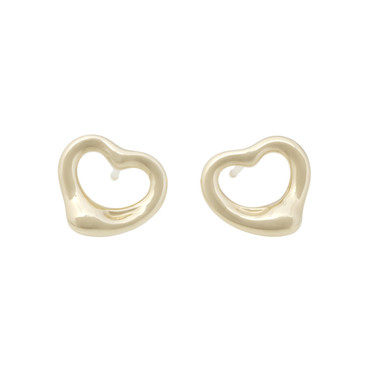 Tiffany & Co. 18K Yellow Gold Open Heart Earrings