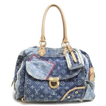 Louis Vuitton Monogram Denim Patchwork Bowly Bag