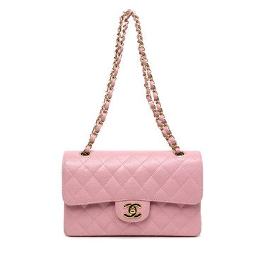Chanel Pink Caviar Small Classic Double Flap