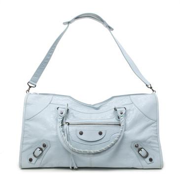 Balenciaga Bleu Acier Lambskin Classic Part Time Bag