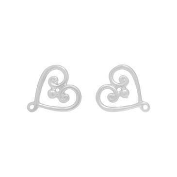 Tiffany & Co. Sterling Silver Goldoni Heart Earrings