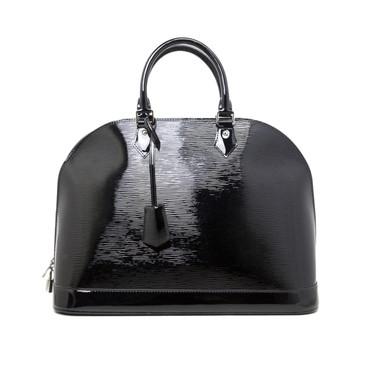 Louis Vuitton Black Electric Epi Alma GM
