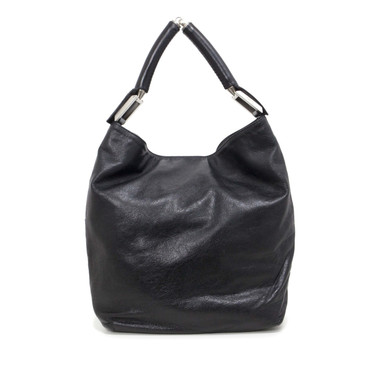 Fendi Black Lambskin Hobo Bag
