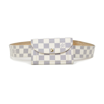 Louis Vuitton Damier Azur Pochette Solo Belt