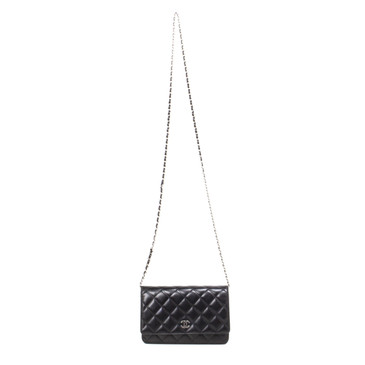 Chanel  Black Lambskin Wallet on Chain WOC