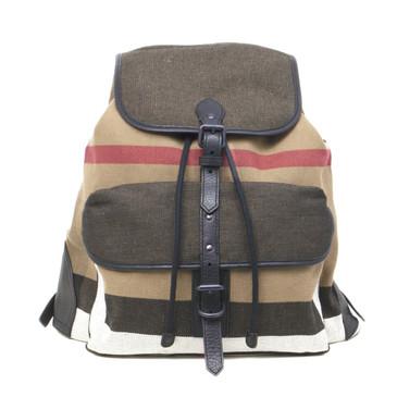 Burberry Check Canvas Korbin Backpack