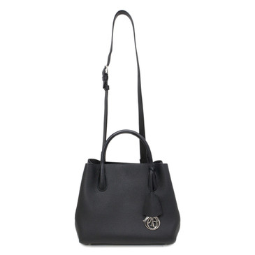 Dior Black Calfskin Small Open Bar Tote