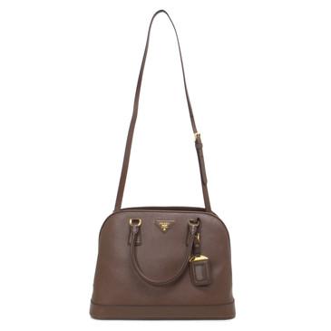 Prada Cacao Saffiano Dome Bag
