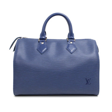 Louis Vuitton Myrtille Blue Epi Speedy 25