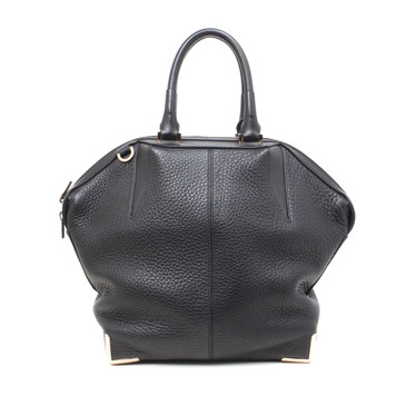 Alexander Wang Soft Black Pebbled Calfskin Small Emile Tote