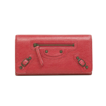 Balenciaga Rose Thulian Lambskin Classic Money Wallet