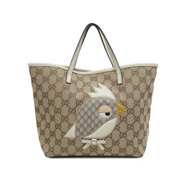 Gucci Monogram Canvas Bird Zoo Tote