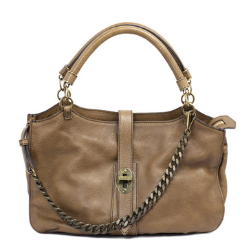 Burberry Brown Leather Medium Landen Bag