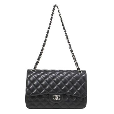 Chanel Black Lambskin Jumbo Classic Double Flap