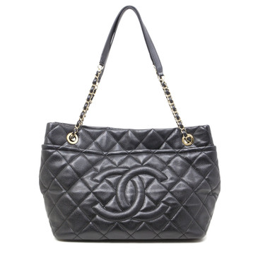 Chanel Black Caviar Timeless Soft Shopper Tote