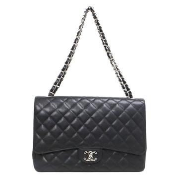 Chanel Black  Caviar Maxi Classic Double Flap