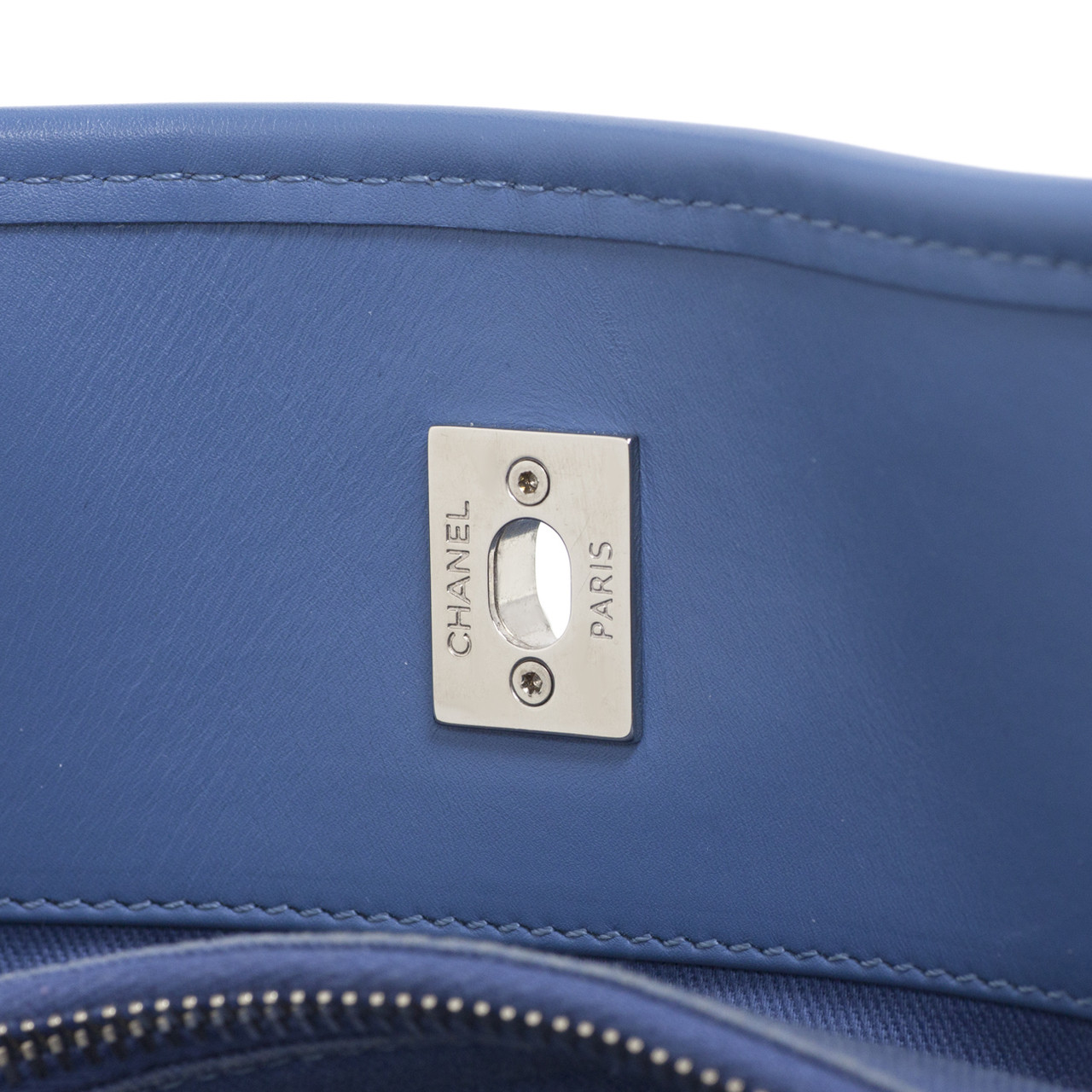 c7a023eabb8c Chanel Blue Perforated Calfskin Up in the Air Tote - modaselle