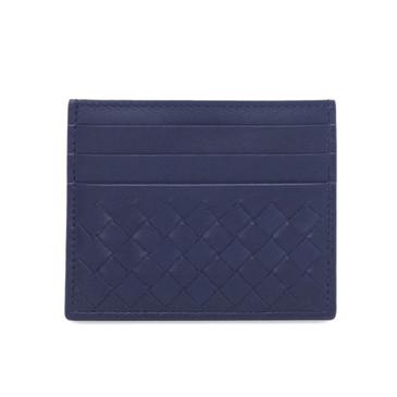 Bottega Veneta Blue Nappa Intrecciato Card Case
