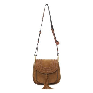 Chloe Caramel Suede Small Hudson Bag