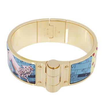 Hermes Enamel Astrologie a Pois Hinged Bracelet