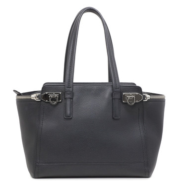Salvatore Ferragamo Black Calfskin Medium Verve Tote