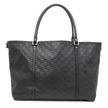 Gucci Black Guccissima Leather Large Joy Tote