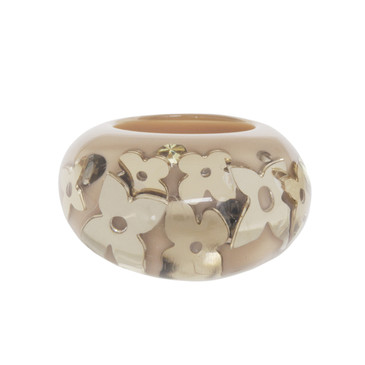 Louis Vuitton Beige Inclusion Ring