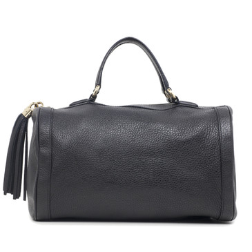 Gucci Black Pebbled Leather Soho Boston Tote