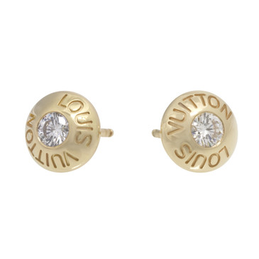 Louis Vuitton 18K Yellow Gold & Diamond Clous Ear Studs