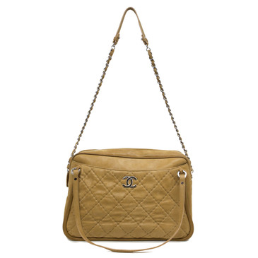 Chanel Tan Iridescent Quilted Leather Relax CC Shoulder Bag