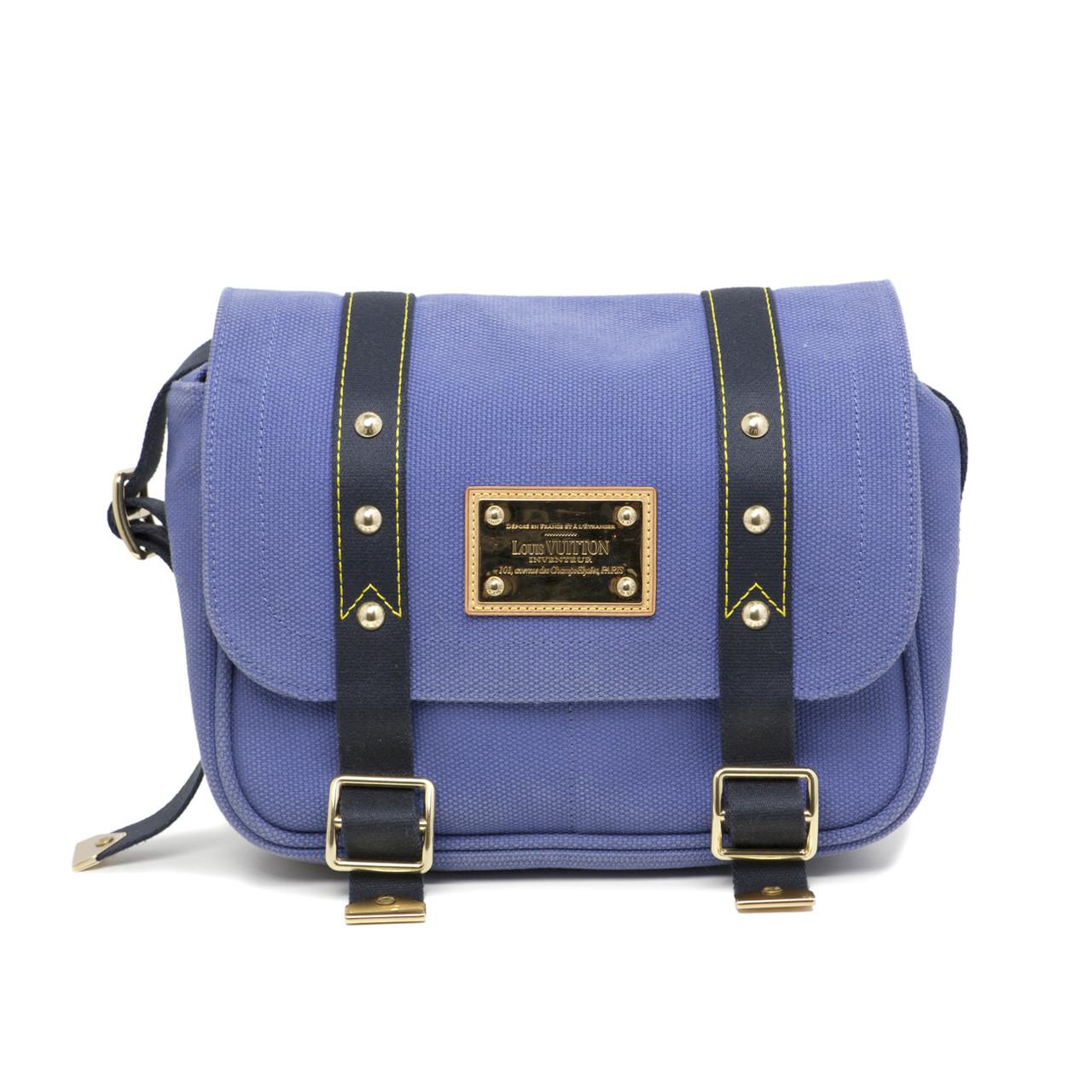 e3011413b Louis Vuitton Indigo Antigua Besace PM Messenger Bag - modaselle