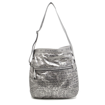 Chanel Silver Nylon Unlimited Messenger Bag