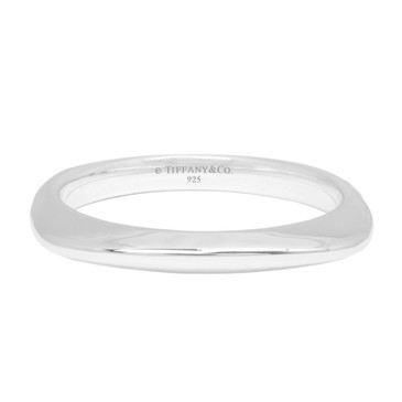 Tiffany & Co. Sterling Silver Square Cushion Bangle