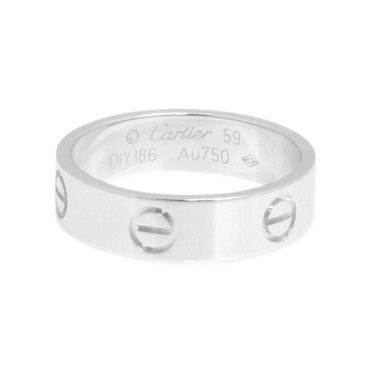 Cartier 18K  White Gold Love Ring