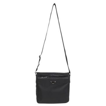Prada Black Tessuto Nylon Messenger Bag