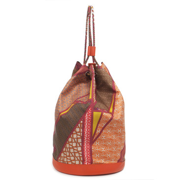 "Hermes ""Carre en Cravates"" Silk Medium Soie Cool Bag"