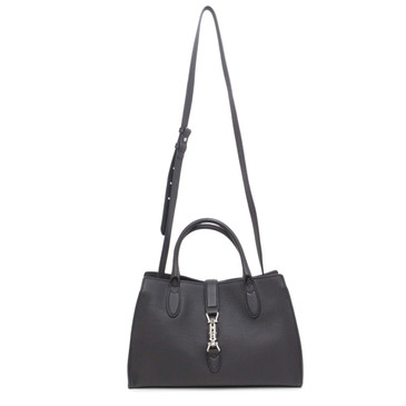 Gucci Black Soft Calfskin Jackie Top Handle Bag