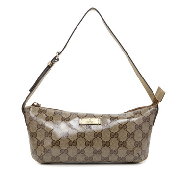 Gucci Crystal Monogram Canvas Cosmetic Pouch